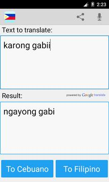 Filipino Cebuano Translator screenshot 3