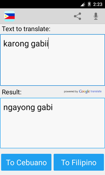 Filipino Cebuano Translator screenshot 3