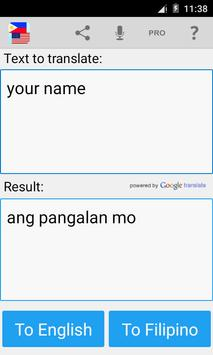 Filipino English Translator screenshot 2