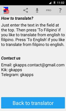 Filipino English Translator screenshot 3