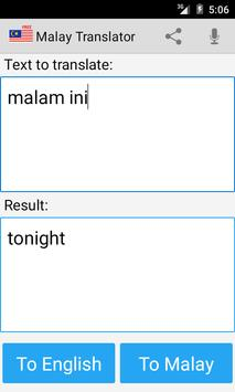 Malay English Translator Screenshot 3