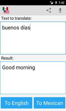 Mexican English Translator screenshot 1