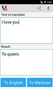 Mexican English Translator screenshot 2