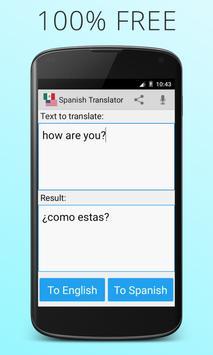Espanhol Inglês tradutor Cartaz