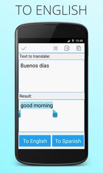 Espanhol Inglês tradutor imagem de tela 1