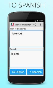 Spanish English Translator screenshot 2