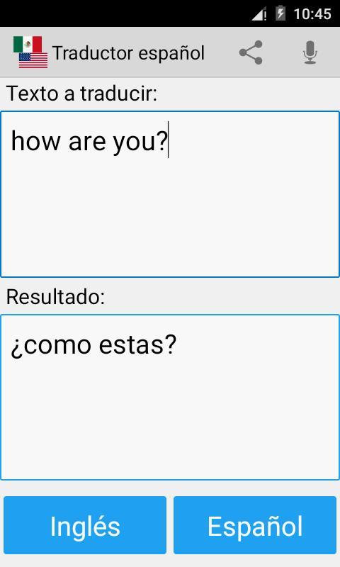 Traducir palabras en inglés en español