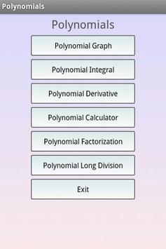 Polynomials Math poster