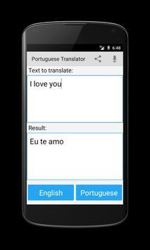 Portuguese English Translator screenshot 2
