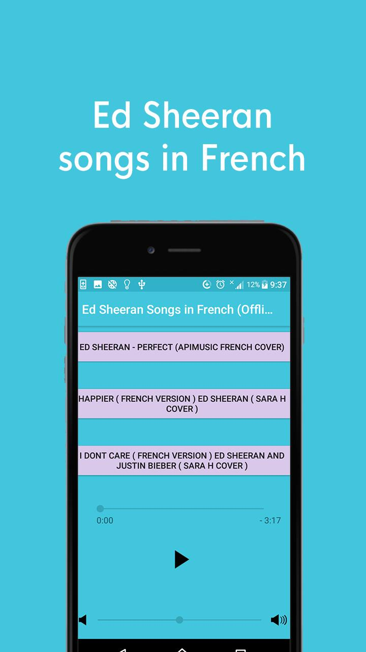 Ed Sheeran Music Offline Perfect In French For Android Apk