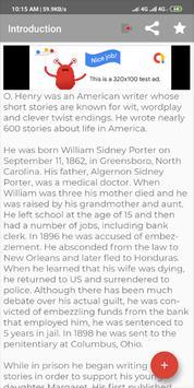 English Short Story - O.Henry screenshot 1