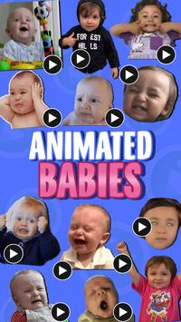 ANIMATED Babies WastickerApps poster