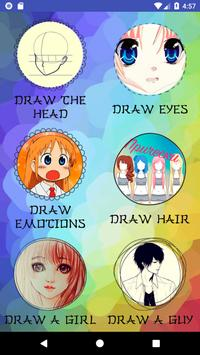 How to draw anime step by step screenshot 1