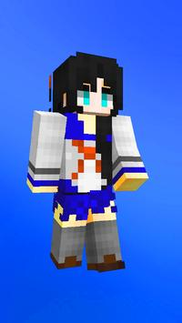 Anime skins for Minecraft pe Poster