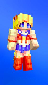 Anime skins for Minecraft pe captura de pantalla 13