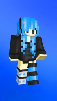 Anime skins for Minecraft pe captura de pantalla 2