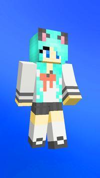 Anime skins for Minecraft pe captura de pantalla 6