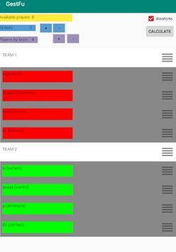 GestFu. Make balanced teams of players. Team maker screenshot 4