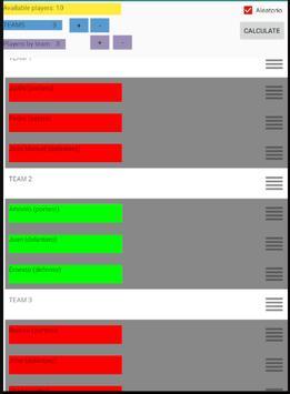 GestFu. Make balanced teams of players. Team maker screenshot 5