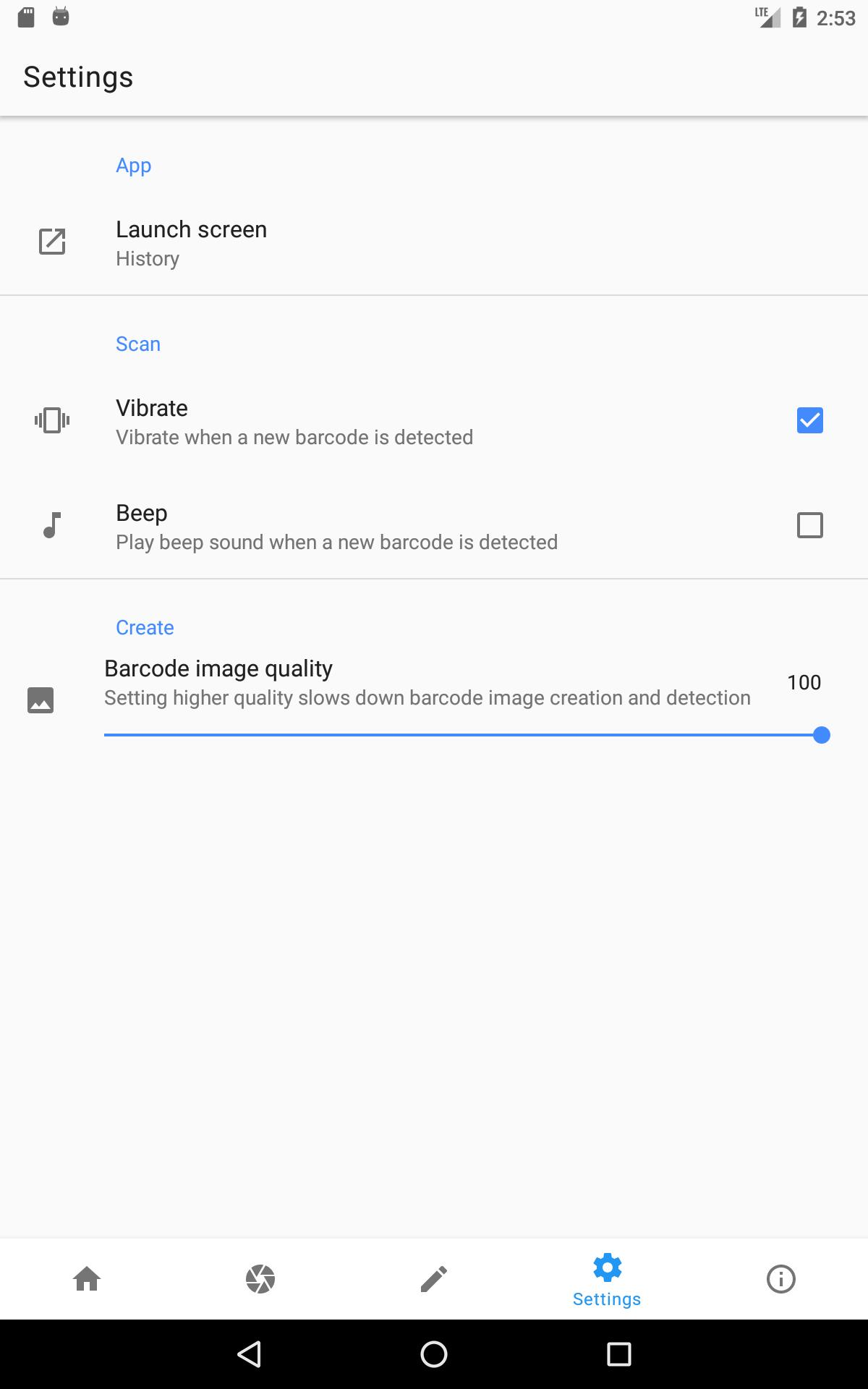 Barcode Scanner / Reader & Generator (Ads Free) for Android - APK