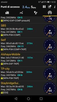5 Schermata Analizzatore WiFi