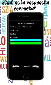 Test de idiomas ,aprende las palabras mas comunes screenshot 2