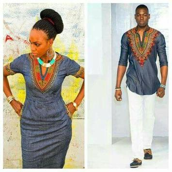 African Couple Outfits poster