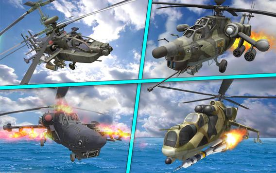 Helicopter Simulator 3D Gunship Battle Air Attack screenshot 4