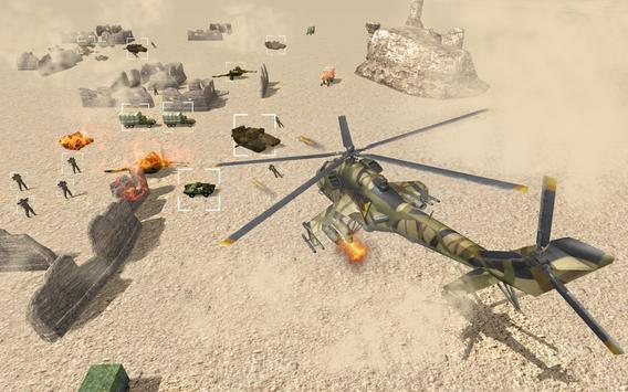 Helicopter Simulator 3D Gunship Battle Air Attack poster