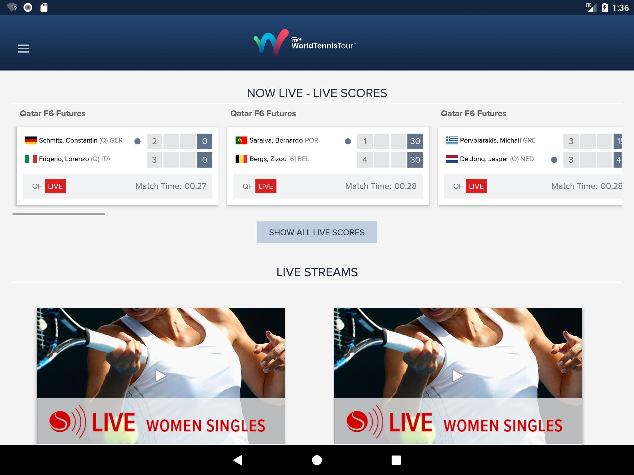 Try These Itf Men's Tennis Live Scores {Mahindra Racing}