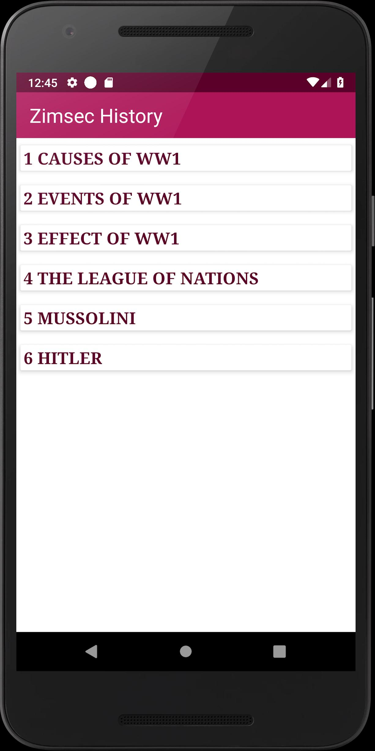 Zimsec History for Android - APK Download