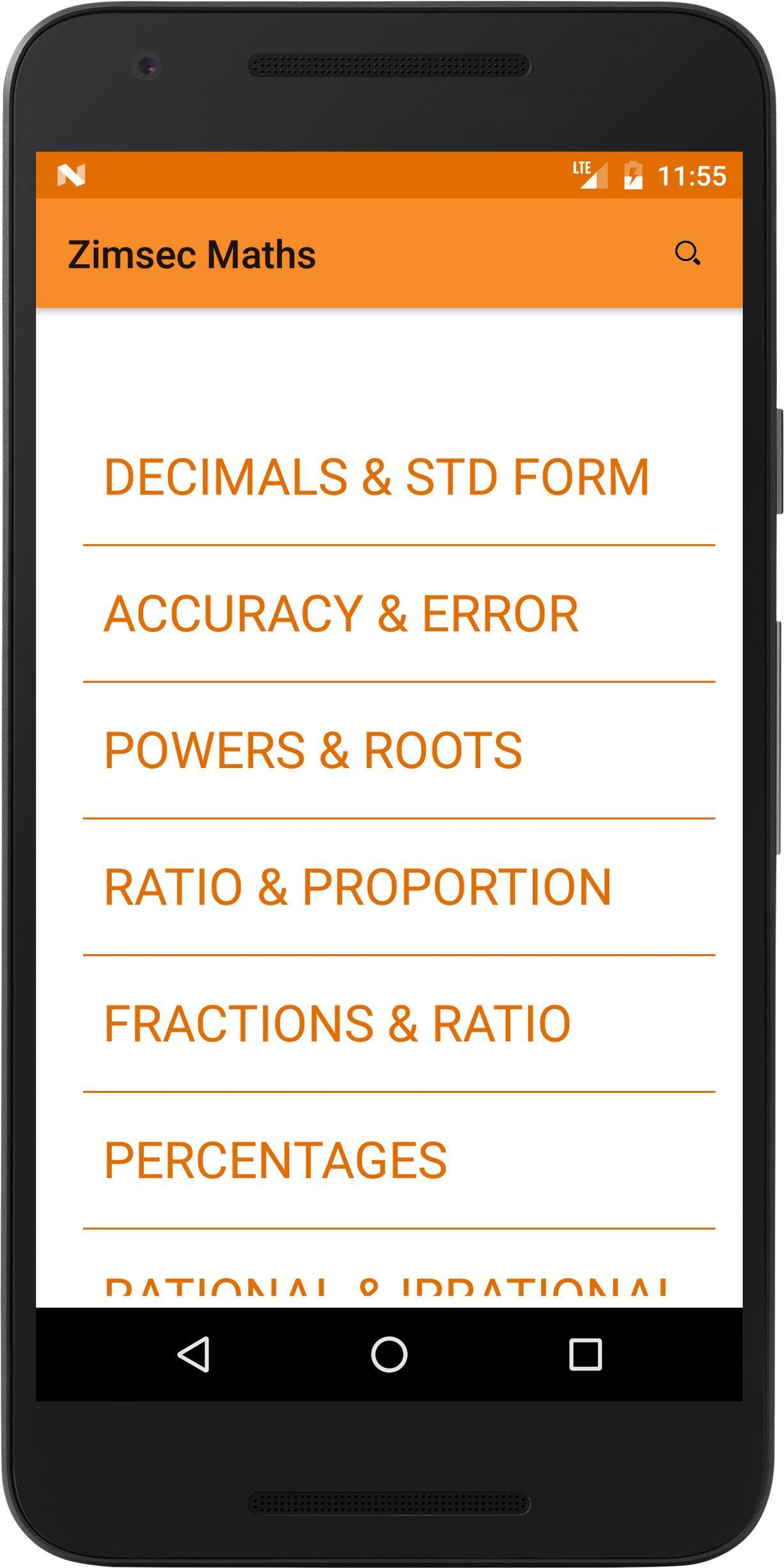 Zimsec Maths for Android - APK Download