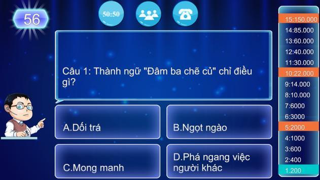 Triệu Phú Mobi - Balo Câu Đố screenshot 5