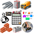 Construction Calculator (Concrete, Steel, Bricks)