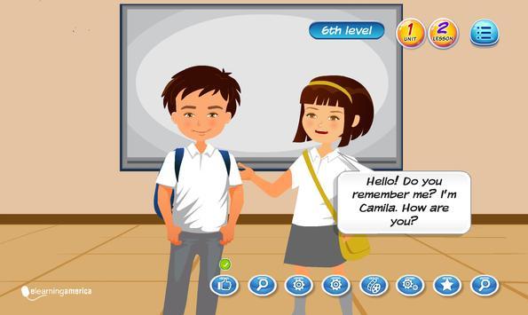 E-learning English Program Level 7 Unit 1 Plakat