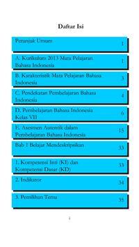 Kelas VII Bahasa Indonesia BG poster