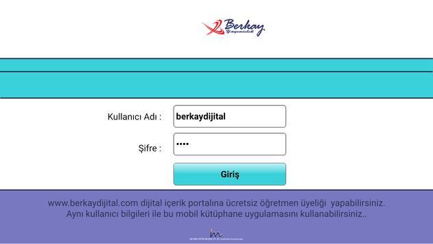 Berkay Yayınları Mobil Kütüphane Uygulama poster