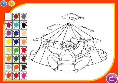 Cartoon Coloring Game poster