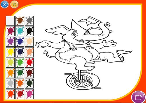 Cartoon Coloring Game screenshot 1