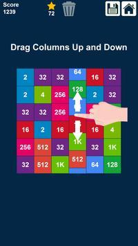 2048 Rows and Columns: Drag n Merge Numbers poster