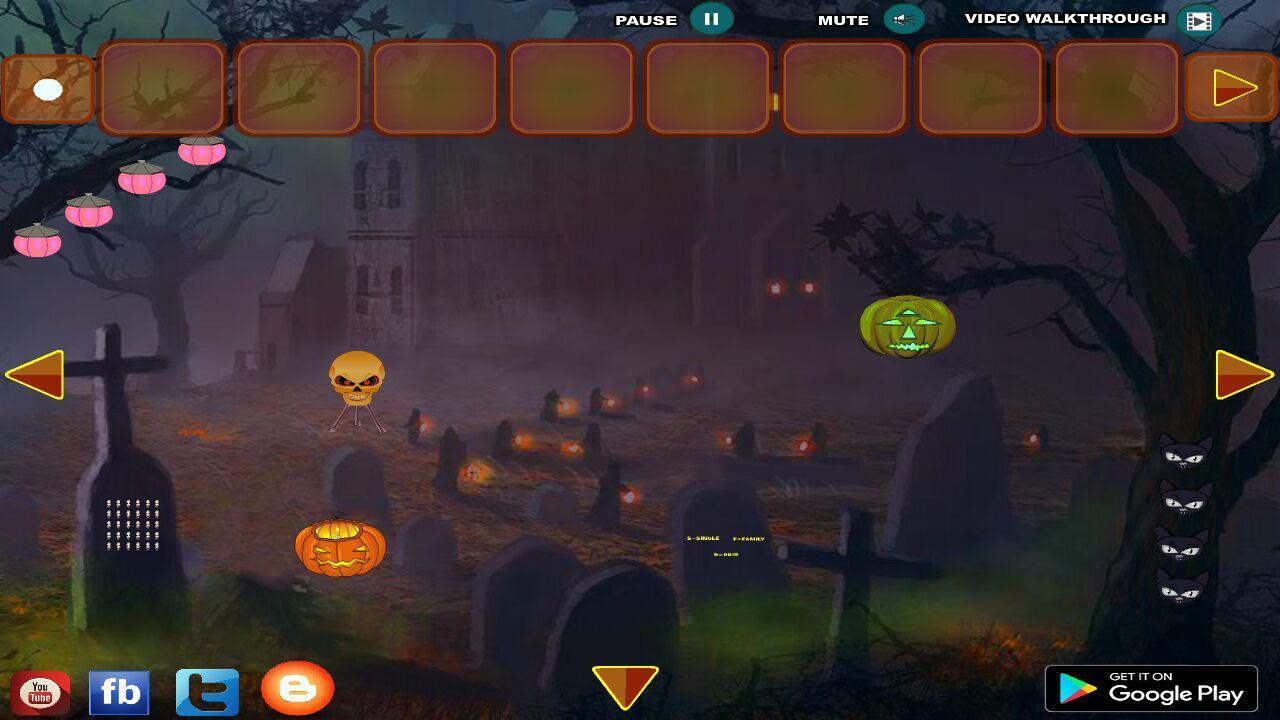 Halloween White Cat Escape For Android Apk Download