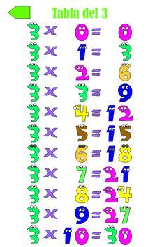 Tablas de Multiplicar 截图 3