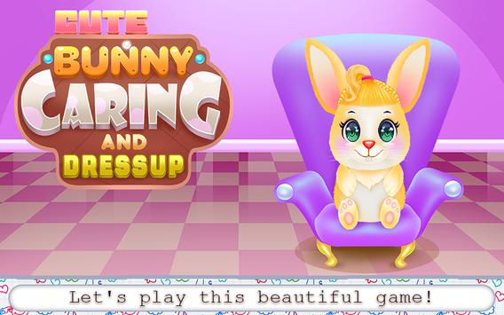 Cute Bunny Caring and Dressup poster