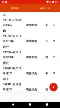 西暦・和暦・年齢・干支早見表 screenshot 2