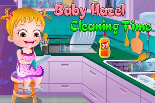 Baby Hazel Cleaning Time screenshot 1