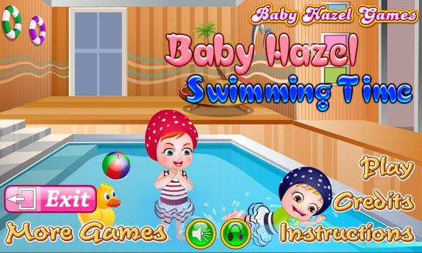 Baby Hazel Swimming Time poster