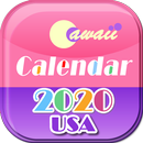 US 2020 Cawaii Calendar ❤️Free❤️ APK Android