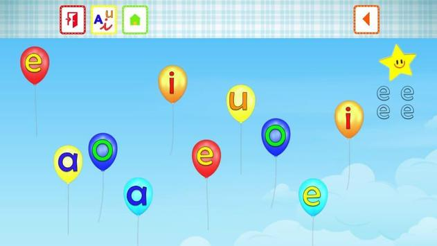 VOWELS FOR KIDS IN SPANISH screenshot 5