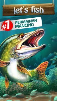 Let's Fish! Permainan Memancing, Simulator Mancing poster