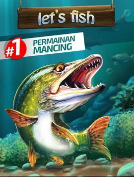 Let's Fish! Permainan Memancing, Simulator Mancing screenshot 10